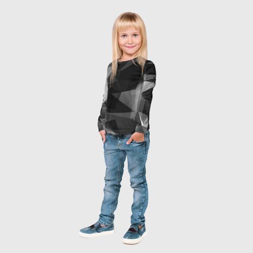 Детский лонгслив 3D  Фото 04, Camo - Black & White (Чёрно-белый камуфляж)