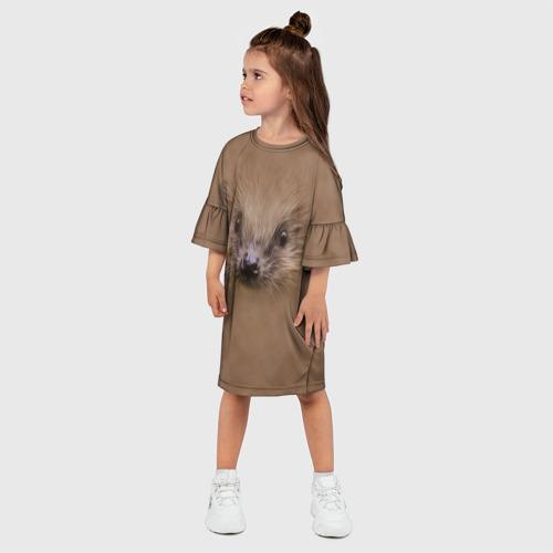Детское платье 3D  Фото 03, Ёжик