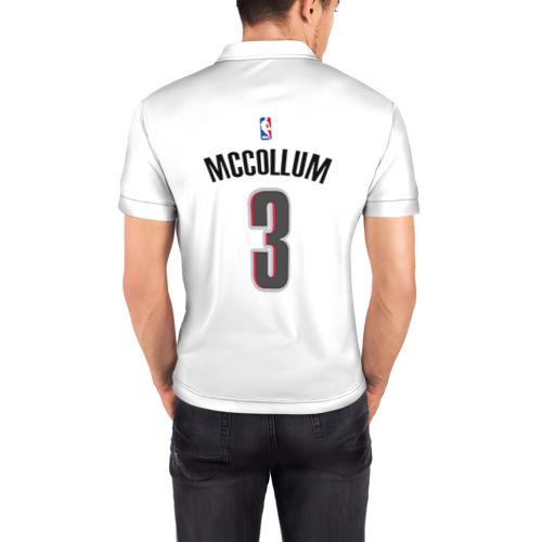 Мужская рубашка поло 3D  Фото 04, Форма Portland Trail Blazers белая