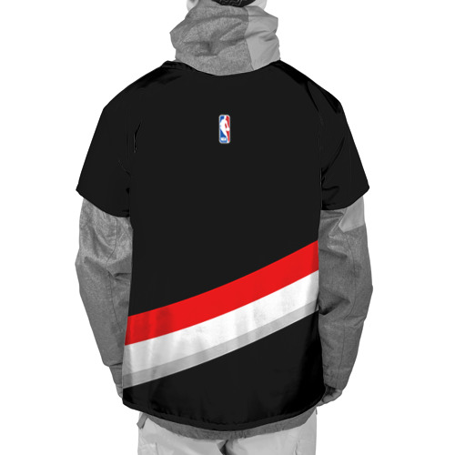 Накидка на куртку 3D  Фото 02, Форма Portland Trail Blazers чёрная
