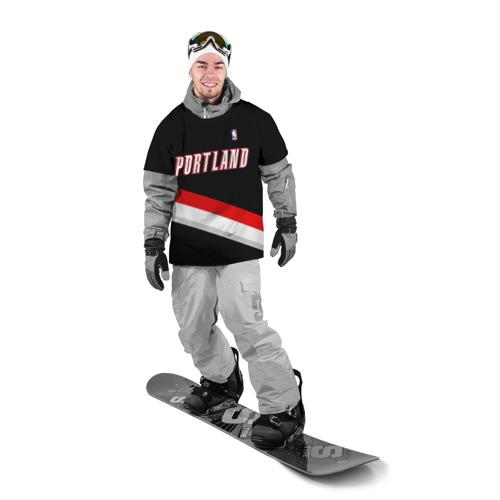 Накидка на куртку 3D  Фото 03, Форма Portland Trail Blazers чёрная