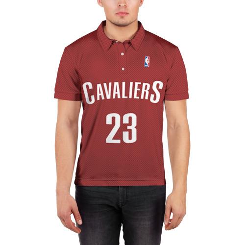 Мужская рубашка поло 3D  Фото 03, Форма Cavaliers Cleveland красная