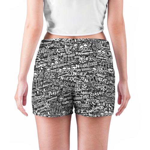 Женские шорты 3D  Фото 04, Панк-рок. стикербомбинг