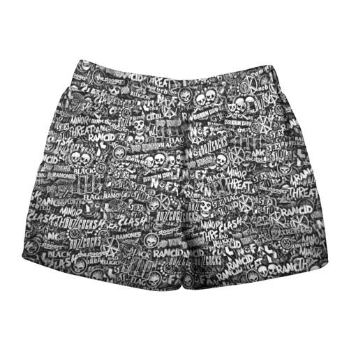 Женские шорты 3D  Фото 02, Панк-рок. стикербомбинг