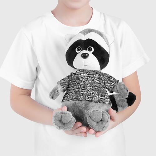 Енотик в футболке 3D Панк-рок. стикербомбинг Фото 01