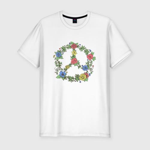 Мужская футболка премиум  Фото 01, peace flowers