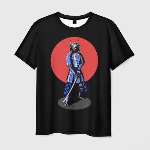 Мужская футболка 3D Самурай, японское солнце