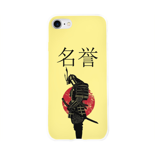 Чехол для Apple iPhone 8 силиконовый глянцевый  Фото 01, Японский самурай (честь)