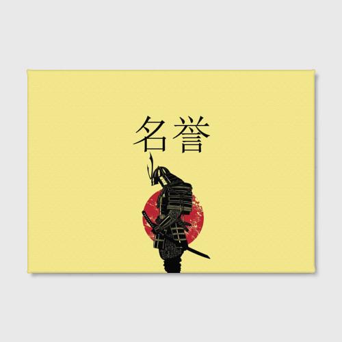 Холст прямоугольный  Фото 02, Японский самурай (честь)