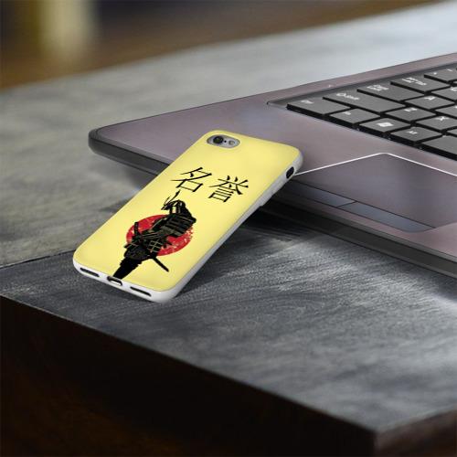 Чехол для Apple iPhone 8 силиконовый глянцевый  Фото 03, Японский самурай (честь)