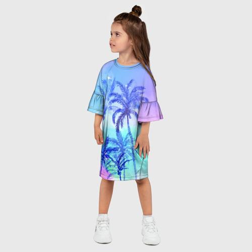 Детское платье 3D  Фото 03, Акварельное небо и пальмы