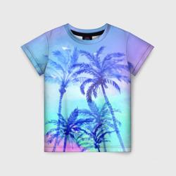 Акварельное небо и пальмы