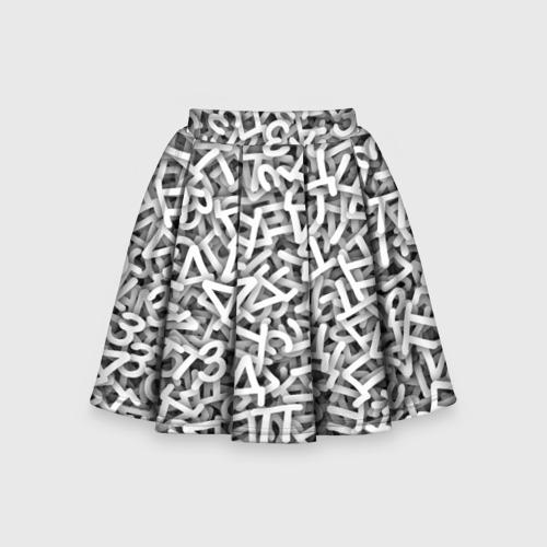 Детская юбка-солнце 3D Узор из букв