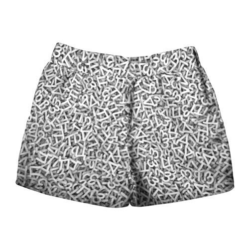 Женские шорты 3D  Фото 02, Узор из букв
