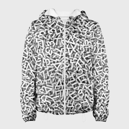 Женская куртка 3D  Фото 01, Узор из букв