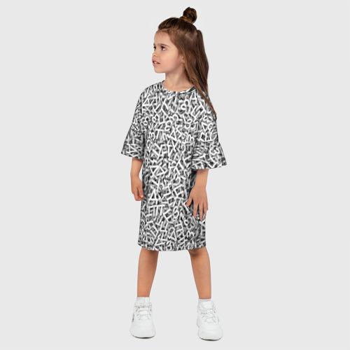 Детское платье 3D  Фото 03, Узор из букв