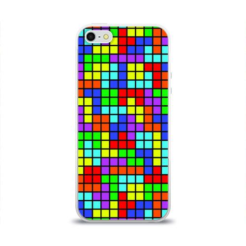 Чехол для Apple iPhone 5/5S силиконовый глянцевый  Фото 01, Тетрис