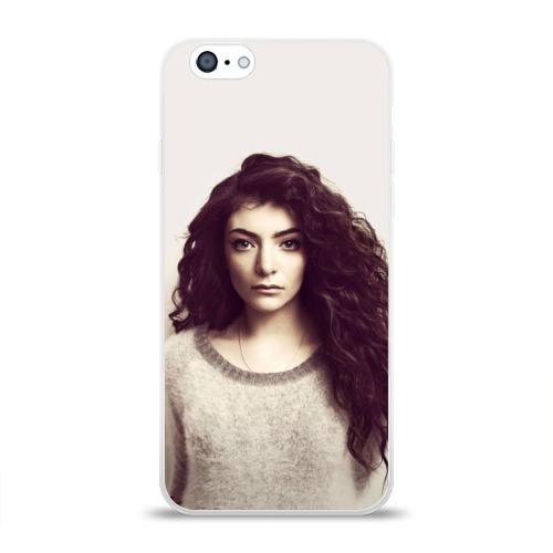Чехол для Apple iPhone 6 силиконовый глянцевый  Фото 01, Lorde