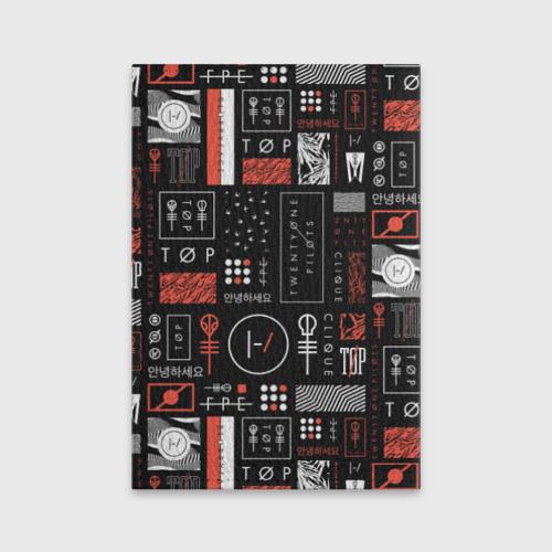 Обложка для паспорта матовая кожа Twenty One Pilots Фото 01