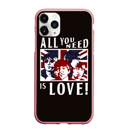 Чехол для iPhone 11 Pro Max матовый All You Need Is Love Фото 01