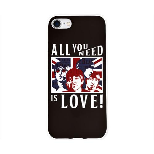 Чехол для Apple iPhone 8 силиконовый глянцевый  Фото 01, All You Need Is Love