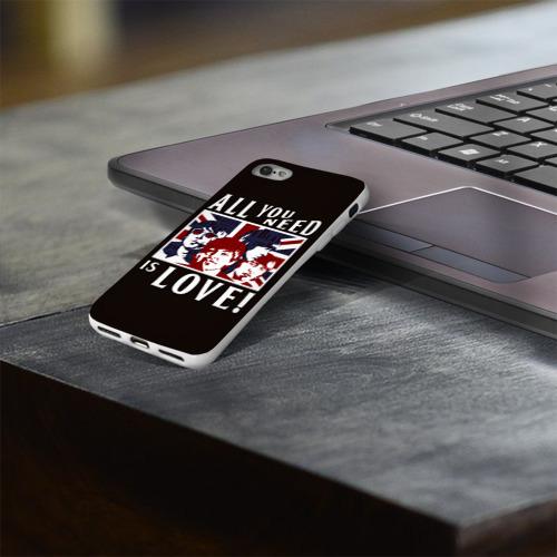 Чехол для Apple iPhone 8 силиконовый глянцевый  Фото 03, All You Need Is Love