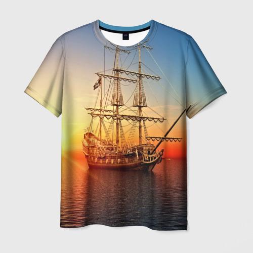 Мужская футболка 3D Фрегат Фото 01