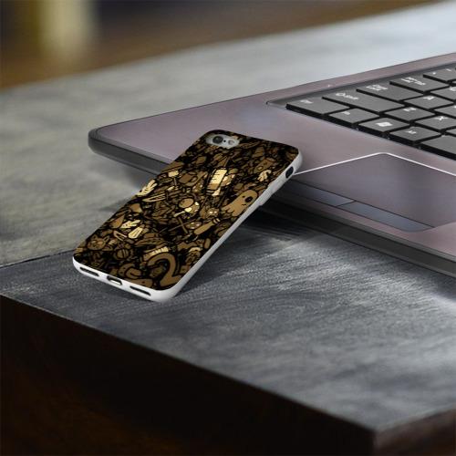 Чехол для Apple iPhone 8 силиконовый глянцевый  Фото 03, Стикеры