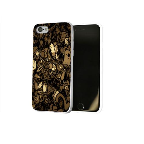 Чехол для Apple iPhone 8 силиконовый глянцевый  Фото 02, Стикеры