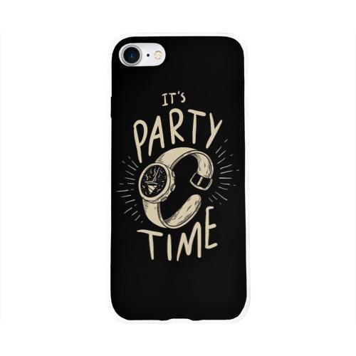 Чехол для Apple iPhone 8 силиконовый глянцевый  Фото 01, Party time