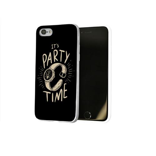 Чехол для Apple iPhone 8 силиконовый глянцевый  Фото 02, Party time