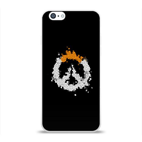 Чехол для Apple iPhone 6 силиконовый глянцевый Overwatch Logo (Краска-Витраж) Фото 01