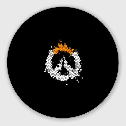 Коврик для мышки круглый Overwatch Logo (Краска-Витраж) Фото 01
