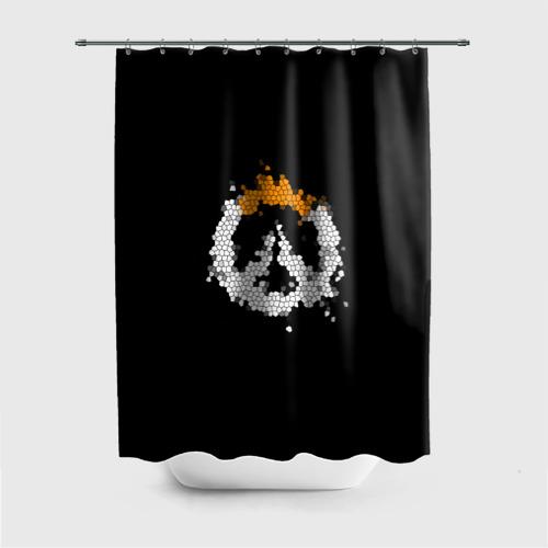 Штора 3D для ванной Overwatch Logo (Краска-Витраж) Фото 01