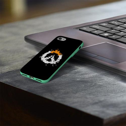 Чехол для Apple iPhone 8 силиконовый глянцевый Overwatch Logo (Краска-Витраж) Фото 01