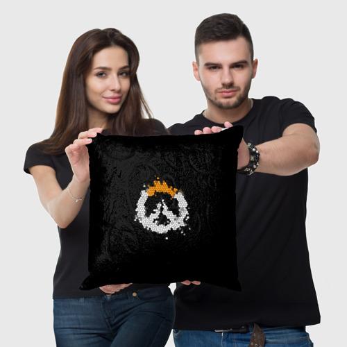 Подушка 3D Overwatch Logo (Краска-Витраж) Фото 01