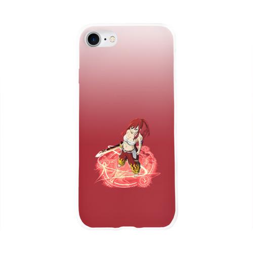 Чехол для Apple iPhone 8 силиконовый глянцевый  Фото 01, Erza Scarlet (Fairy Tail)