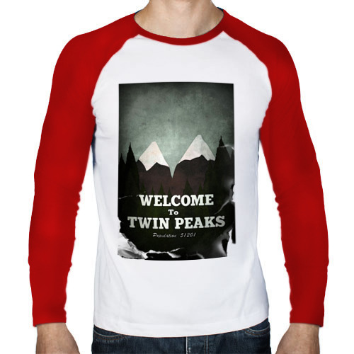 Мужской лонгслив реглан  Фото 01, Twin Peaks