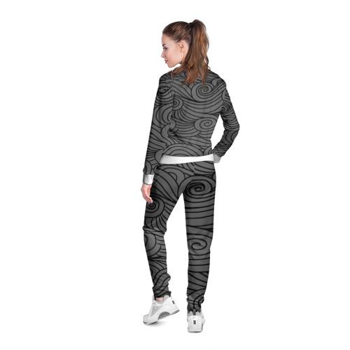 Женская олимпийка 3D  Фото 04, Gray pattern