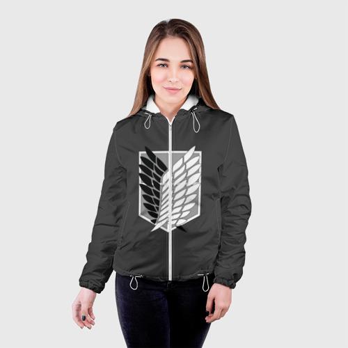 Женская куртка 3D  Фото 03, Атака Титанов (эмблема) #1