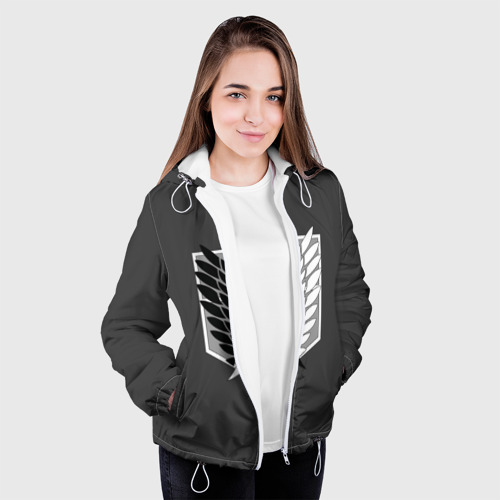Женская куртка 3D  Фото 04, Атака Титанов (эмблема) #1