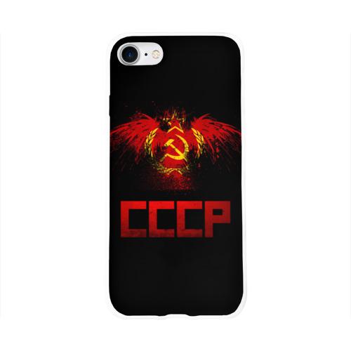 Чехол для Apple iPhone 8 силиконовый глянцевый  Фото 01, СССР орел