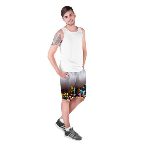 Мужские шорты 3D  Фото 03, Городские огни