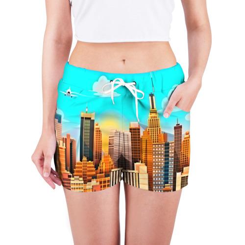 Женские шорты 3D  Фото 03, Мегаполис