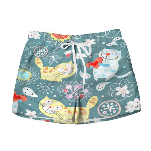Женские шорты 3D  Фото 01, Милый узор