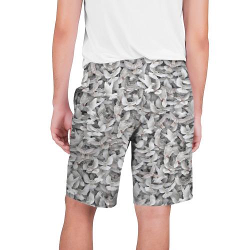 Мужские шорты 3D  Фото 02, Белые голуби