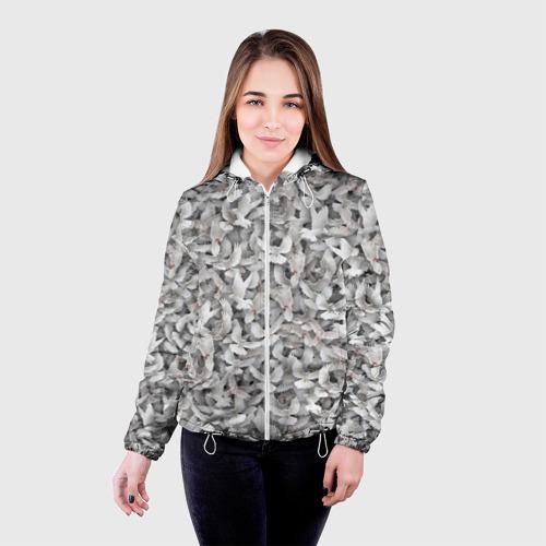 Женская куртка 3D  Фото 03, Белые голуби