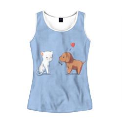 Котенок и щенок, любовь