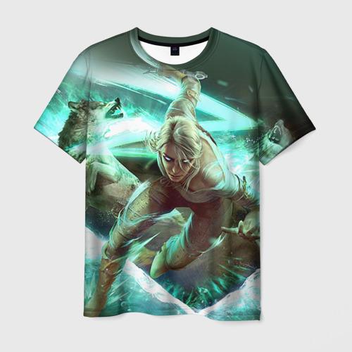 Мужская футболка 3D Цири