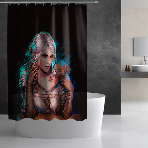 Штора 3D для ванной Цири 1 Фото 01